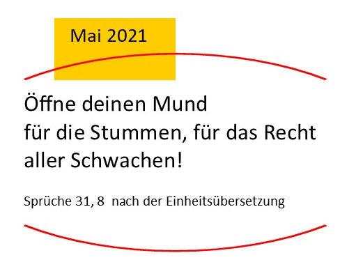 Monatsspruch April 2021